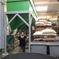 At the roastery...